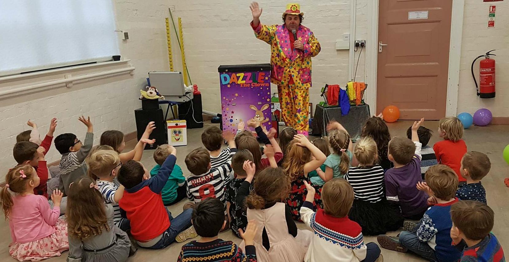 school party dazzle clown image